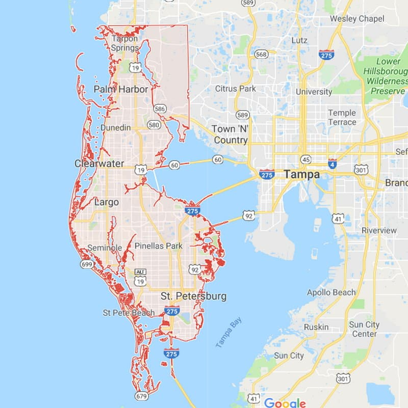 Florida County Boundary and Road Maps for all 67 Counties