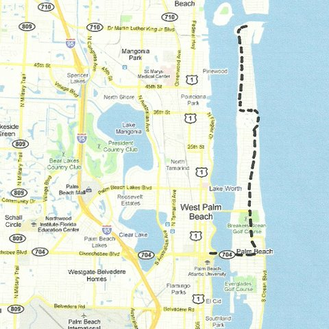 Map SE003 Palm Beach to Lake Worth Inlet
