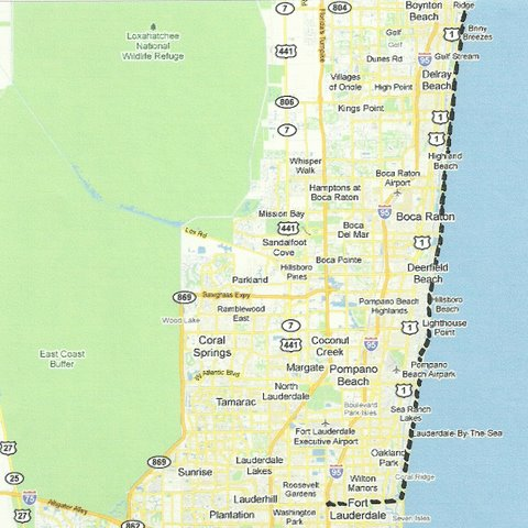 Map Sw005 Boynton Beach To Fort Lauderdale