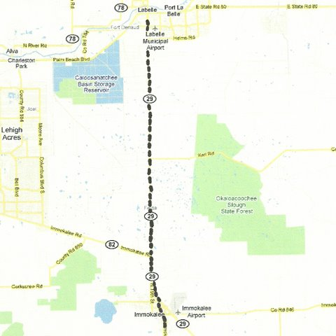Map SW003 Labelle to Immokalee