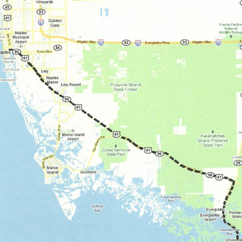 Map SW008 Naples to Everglades City