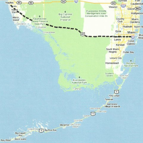 Map SW009 Naples to Miami