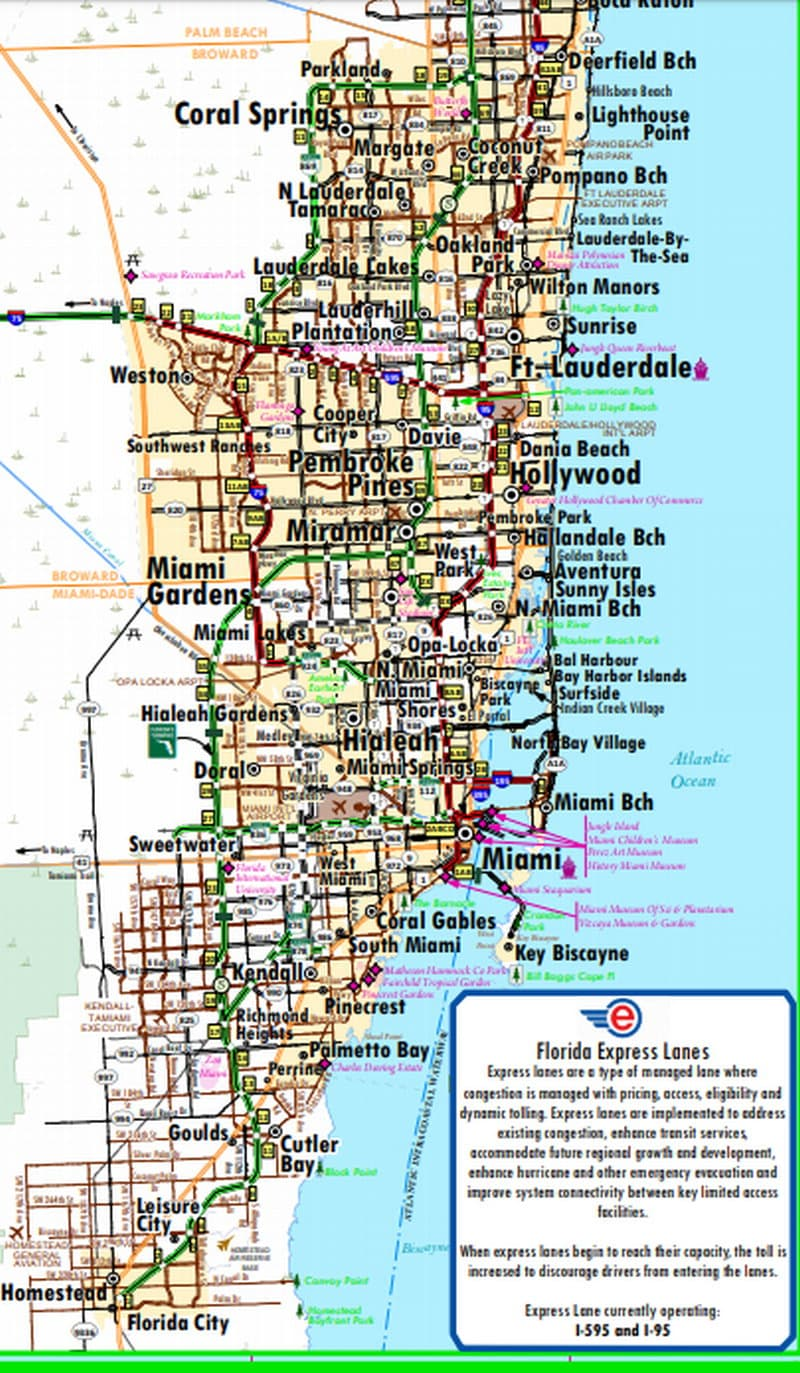 South Florida Map With Cities.Florida City Maps Interactive Maps For 167 Towns And Cities