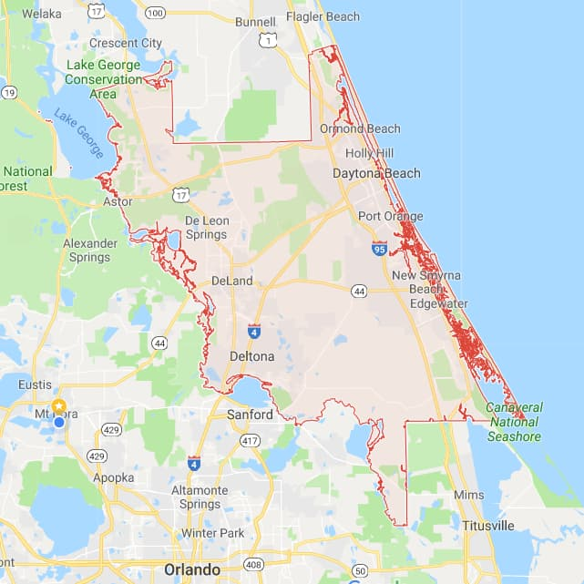 Florida County Boundary and Road Maps for all 67 Counties on daytona beach map, st. johns county map, edgewater county map, brevard county map, chattahoochee county map, edgewater fl map, key west county map, osceola county map, fl county map, orlando map, volusia and flagler counties map, indian river county map, west volusia map, florida map, volusia school map, charlton county map, broward county map, deland fl map, st. augustine map, flagler county map,