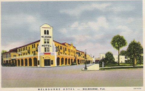 Melbourne Florida Hotel Postcard