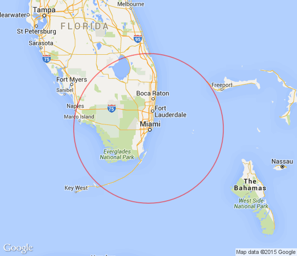 Places to see within 100 miles of Miami, Florida.