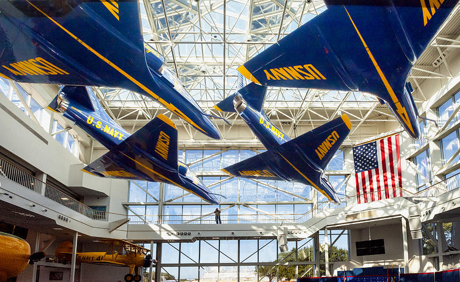 Some Blue Angels on Display at the National Naval Aviation Museum, Pensacola
