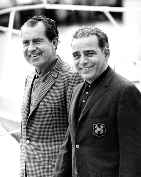 Richard Nixon and Bebe Rebozo