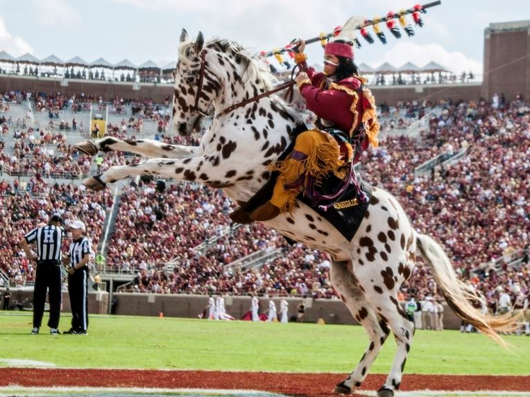 Florida State University, Osceola and his horse Renegade