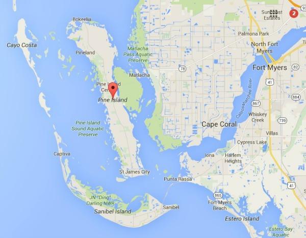Map Of Pine Island Florida.Florida Heritage Travel July 2016 Pine Island