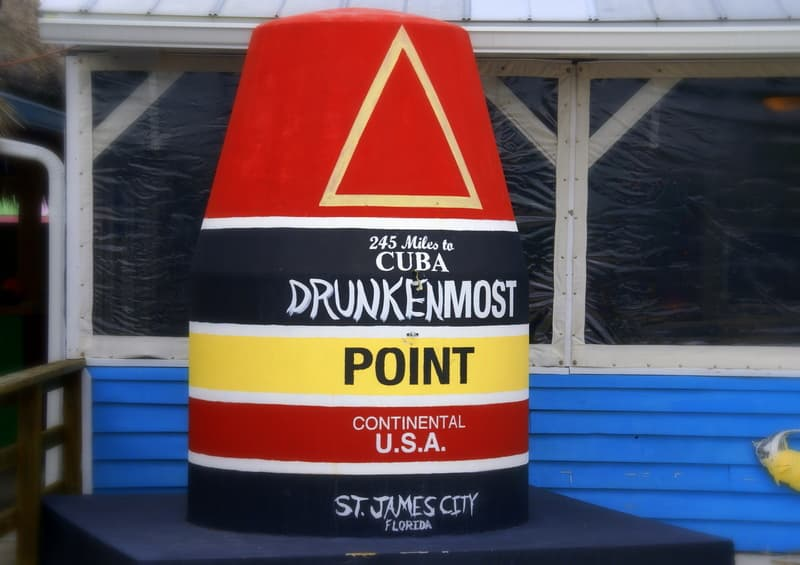 St James City Drunkenmost City Marker