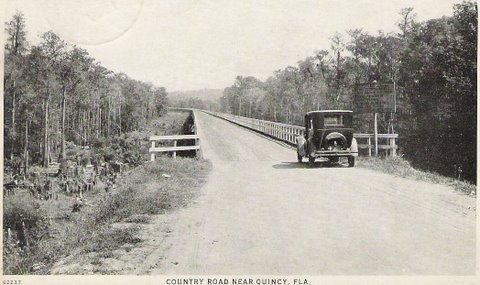 Quincy Florida Vintage Postcard