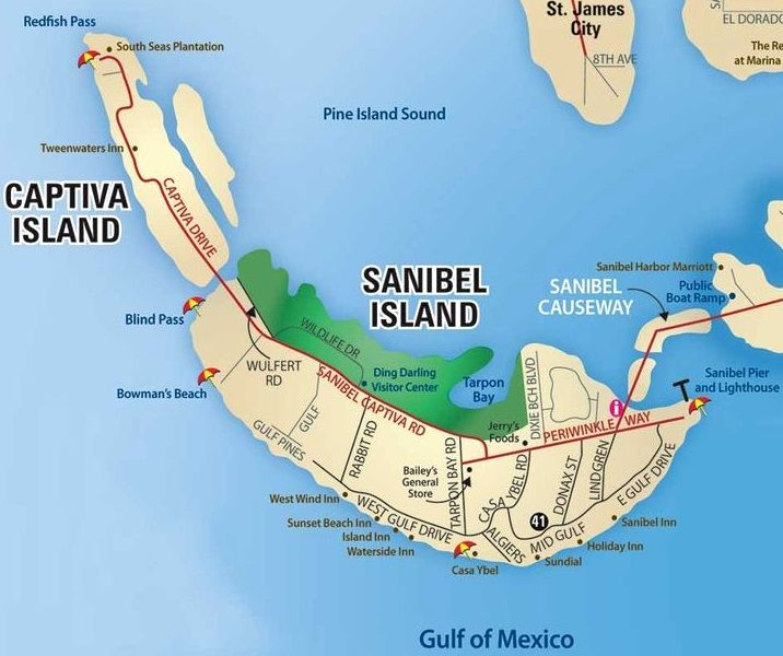 Captiva Island Map Captiva Island Florida. Paradise On The Florida Gulf Coast