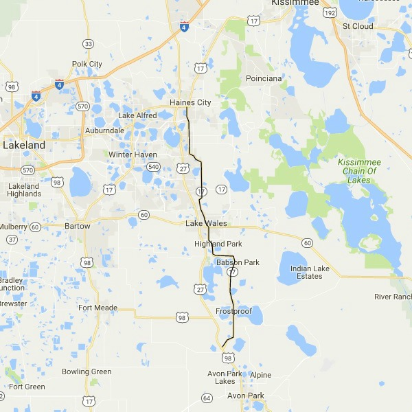 Florida's older north south highways keep you off the interstates
