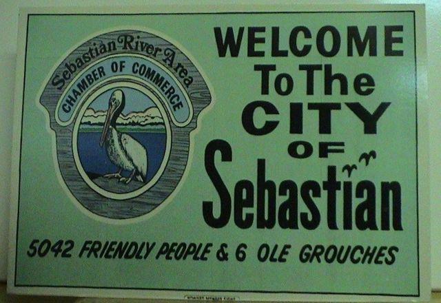 Sebastian, Florida Welcome Sign