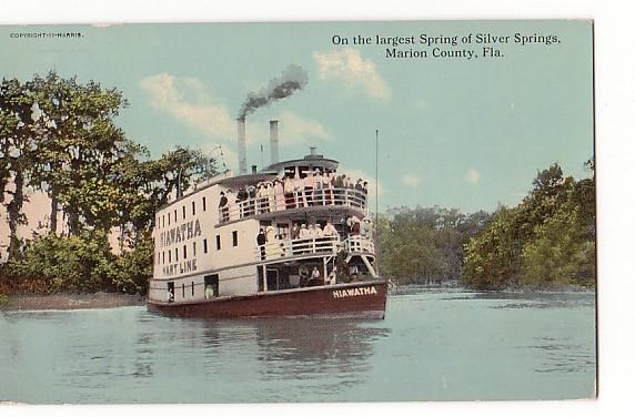Vintage Postcard Silver Springs, Florida