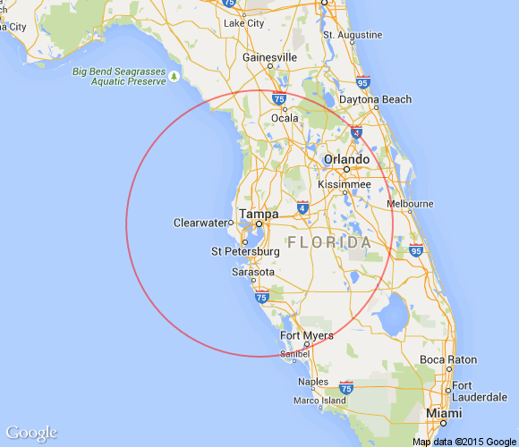 Places to see within 100 miles of Tampa, Florida.