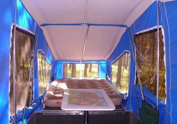 Interior of Timeout Camper
