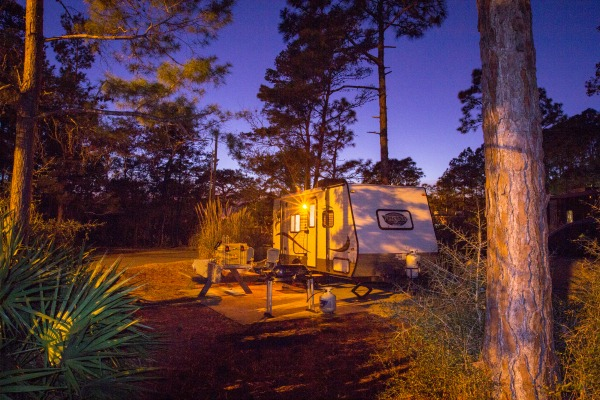 Campsite at Topsail Hill Preserve State Park