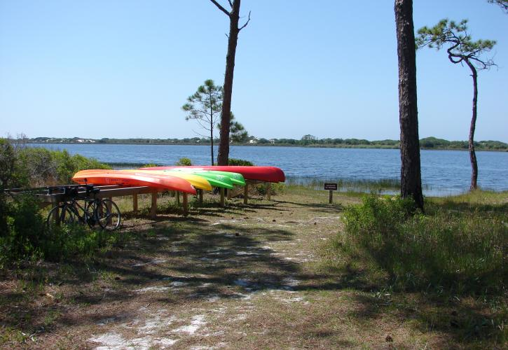 Kayaks at Topsail Hill Preserve State Park
