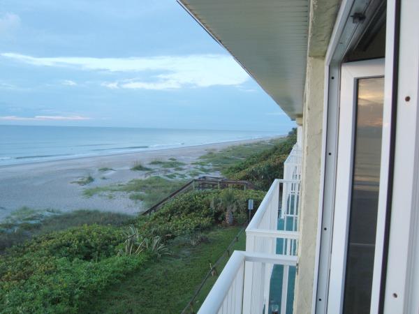 View of Atlantic Ocean from Tuckaway Shores in Indialantic, Florida