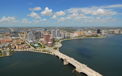View Westerly Toward Downtown West Palm Beach