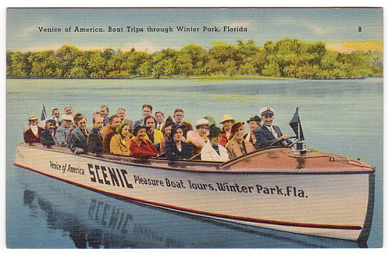 Vintage Postcard Winter Park, Florida