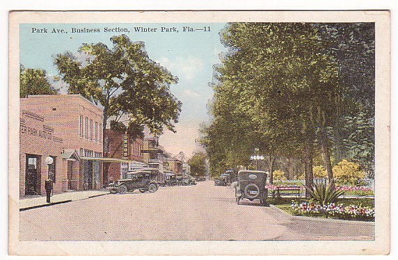Winter Park Florida Vintage Postcard
