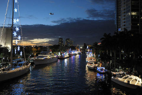Winterfest Boat Parade Starting At New River in Fort Lauderdale