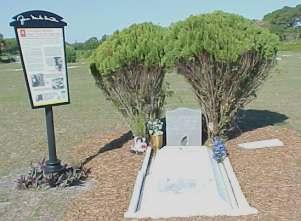 Grave of Zora Neale Hurston in Fort Pierce, Florida