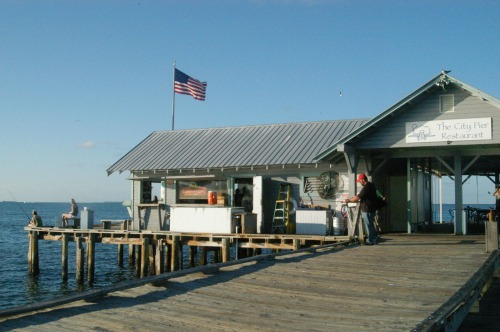 Old city dock on Anna Maria Island