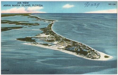 Aerial View of Anna Maria Florida