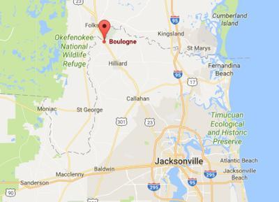 Boulogne Florida Location Map