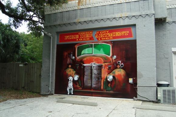 Crescent City Florida Fire Dept Mural