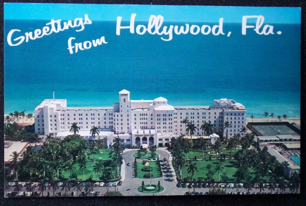 Vintage Postcard Hollywood, Florida
