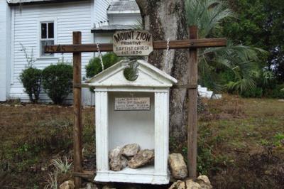Mount Zion Church Bulletin Board