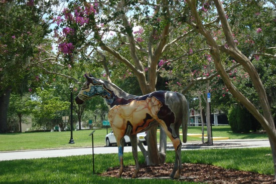 Ocala Florida Horse Statue Downtown