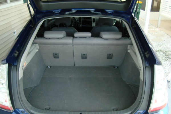 2008 Toyota Prius with hatch open and seats in normal position