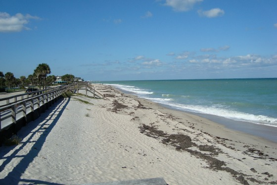 Atlantic Ocean at Vero Beach Florida