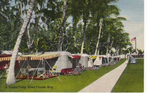 Vintage Postcard Florida Trailer Camp