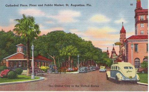 St Augustine Vintage Postcard