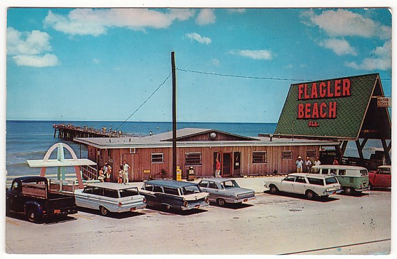 Vintage Postcard Flagler Beach, Florida