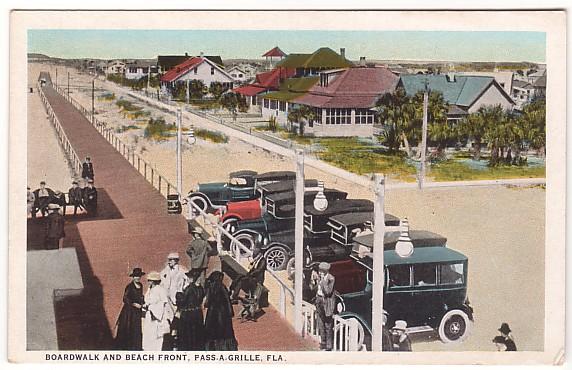 Vintage Postcard Pass A Grille, Florida