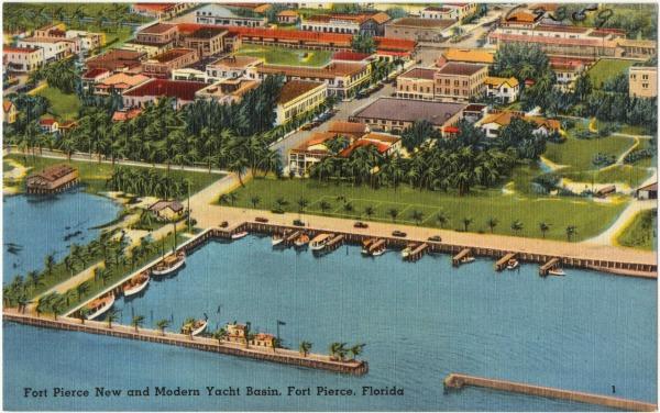 Fort Pierce Vintage Postcard