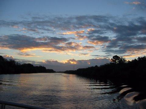Okeechobee Waterway Leaving Indiantown Florida at Dawn
