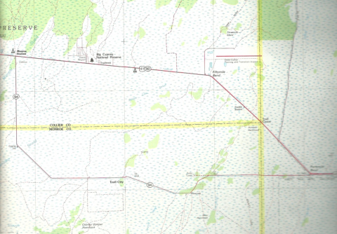 Map of Big Cypress Loop Road
