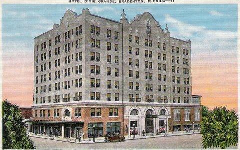 Hotel Dixie Grande Bradenton Florida Postcard