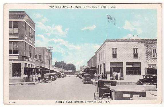 Vintage Postcard Brooksville, Florida