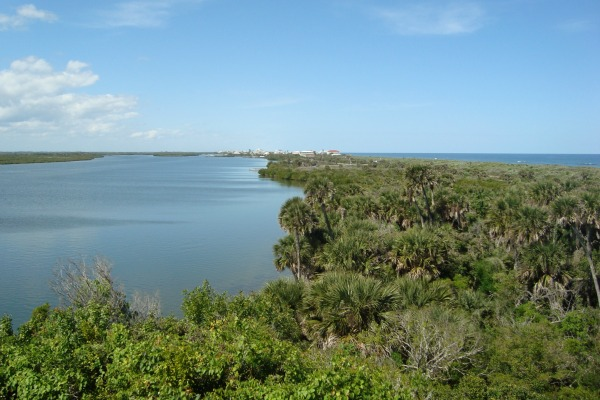 Canaveral National Seashore Mosquito Lagoon from Turtle Mound