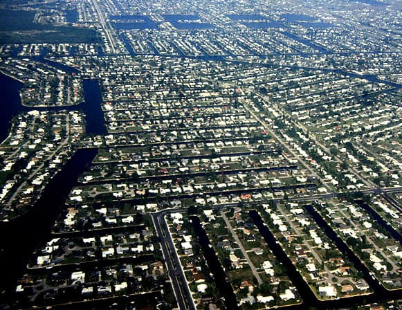 Cape Coral, Florida, Aerial View